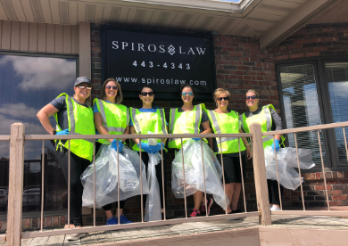Spiros Law volunteers for Adopt-A-Highway