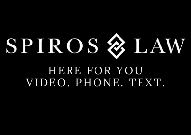 Spiros Law offering legal services online, through video, and over phone and text.